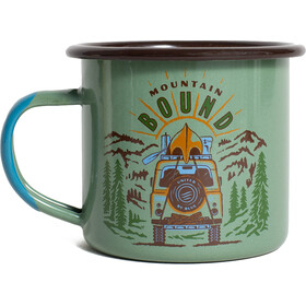 United By Blue Mountain Bound Emaille Mok 355ml, sage